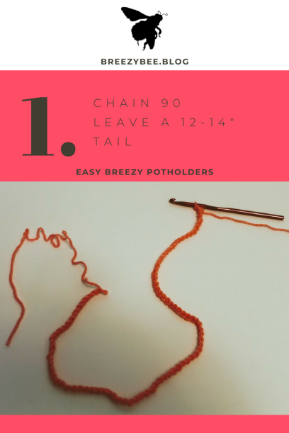 single stitch around your loop until you build up A full potholder (2)