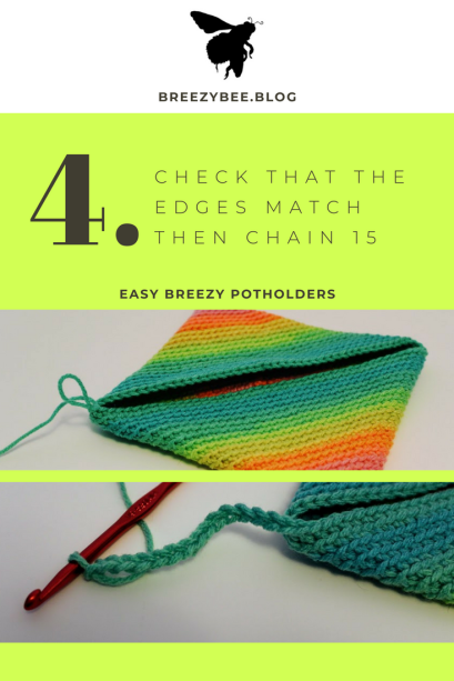 single stitch around your loop until you build up A full potholder